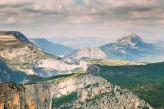 Beautiful amazing landscape of the Verdon Gorge in south-eastern - stock photo