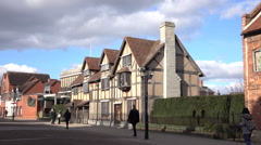 Stratford Upon Avon historic William Shakespeare Home 4K Stock Footage