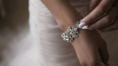 Elegant Fashionable Woman With Jewelry SLow Motion Stock Footage