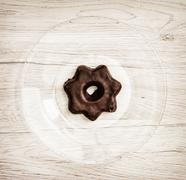 Star shaped gingerbread cookie, sweet food theme Stock Photos