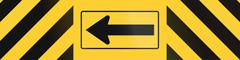 Road sign used in the US state of Texas - Barrier with direction Stock Illustration
