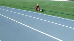 Runner Stretching Fast Stock Footage