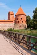 Medieval Trakai Castle near Vilnius, Lithuania Stock Photos
