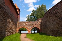 Medieval Trakai Castle near Vilnius, Lithuania - stock photo