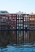 Traditional Dutch Architecture Houses - stock photo