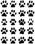 print of cats paws - stock illustration