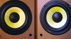 A powerful audio system. - stock footage
