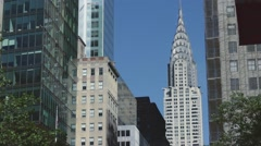 New York Architecture collections - Exterior art deco skyscraper Crystler Bui - stock footage