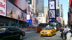 Busy street in New York City, Manhattan, NY Stock Footage