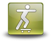Icon, Button, Pictogram Skateboarding - stock illustration