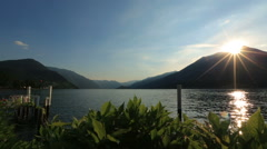 Wonderful dawn in the Como lake, Italy Honeymoon Stock Footage