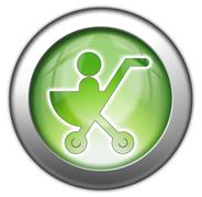 Icon, Button, Pictogram Stroller Stock Illustration