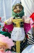 """Exhibition outdoors """"Shrovetide doll"""" on Shrovetide festivities, Gomel, Belar - stock photo"""