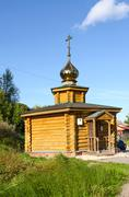 Chapel on source of St. Ilya Muromets near Murom, Russia Stock Photos