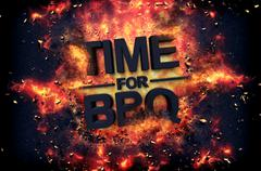 Artistic dramatic poster for - Time for BBQ Stock Illustration