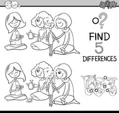 Differences activity for coloring Stock Illustration