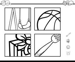 educational activity coloring book - stock illustration