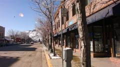 Durango Main Street Winter Day - stock footage