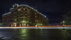 Strater Hotel Durango Night Timelapse 4K Stock Footage