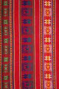 Aguayo andean  loom - stock photo