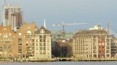 Construction Crane Boston Stock Footage