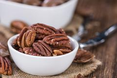 Pecan Nuts (selective focus) - stock photo
