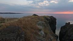 Sunrise Sea Coast Panorama. Stock Footage