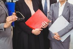 Lawyer holding a law book - stock photo