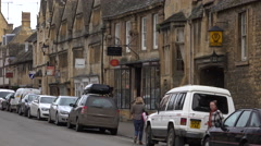 Traffic business people Chipping Campden England 4K Stock Footage