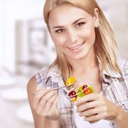 Enjoying healthy nutrition - stock photo