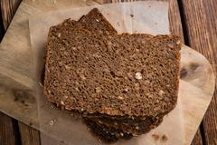 Stock Photo of Slices of  Brown Bread