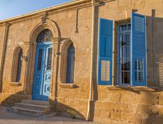 Beautiful classic residential building in the Old City of Nicosia Stock Photos