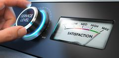 Service Satisfaction Indicator Stock Photos