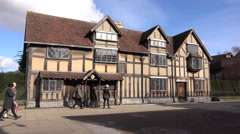 William Shakespeare Home Stratford Upon Avon England 4K Stock Footage