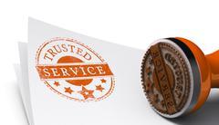 Trusted Service, Satisfaction Guaranteed - stock illustration