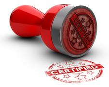 Certified Rubber Stamp - stock illustration