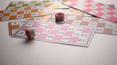 Bingo Lotto Tombala Gambling Game Entertainment Stock Footage