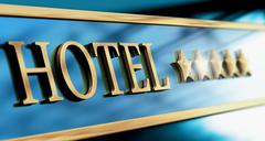 Five Stars Luxury Hotel Sign or Header Stock Illustration
