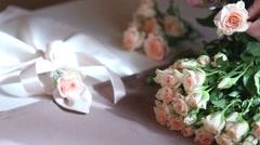 Wedding table decoration Stock Footage