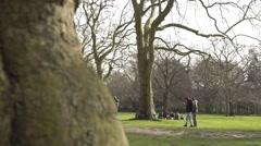 School children in the park Stock Footage