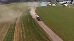 Tractor Hauling Down Lane #6 - stock footage