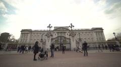 Buckingham palace frontyard Stock Footage