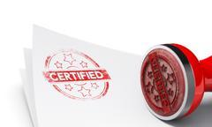 Certified Background Stock Illustration