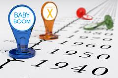 Baby Boom Generation Stock Illustration