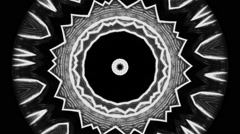 Psychedelic big pupil, eye on black background - abstract motion background 2 Stock Footage
