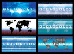 business concept abstract background. 0,1 binary code wallpaper - stock illustration