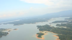 Aerial View of Lake Region in Panama, Central America - stock footage