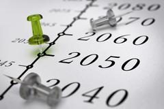 21st Century Timeline, year 2050. - stock illustration