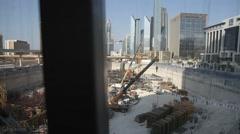 Contruction in Dubai, UAE Stock Footage