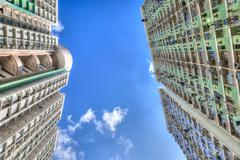 Tall Concrete Highrise Housing in Hong Kong - stock photo